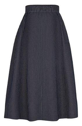 Женская юбка из хлопка и шелка DIOR синего цвета, арт. 041J44A3731X5879 | Фото 2