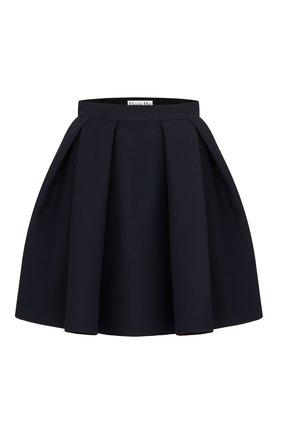 Женская юбка из хлопка и шелка DIOR темно-синего цвета, арт. 041J45A1166X5645 | Фото 1