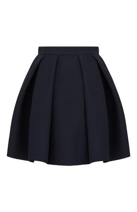 Женская юбка из хлопка и шелка DIOR темно-синего цвета, арт. 041J45A1166X5645 | Фото 2
