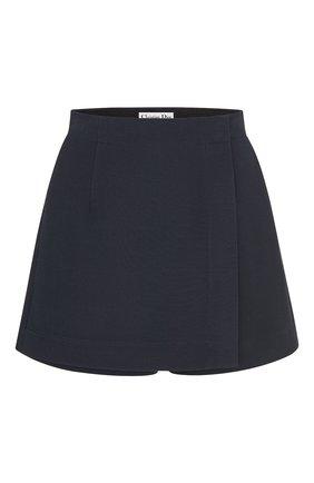 Женские шорты из шерсти и шелка DIOR темно-синего цвета, арт. 041P45A1166X5645 | Фото 1