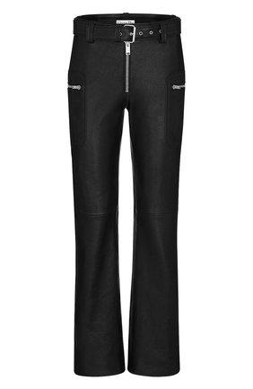 Женские кожаные брюки DIOR черного цвета, арт. 045P99AL005X9000 | Фото 1