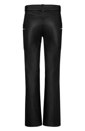 Женские кожаные брюки DIOR черного цвета, арт. 045P99AL005X9000 | Фото 2