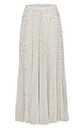 Женская шелковая юбка DIOR белого цвета, арт. 041J21A6645X0874 | Фото 1