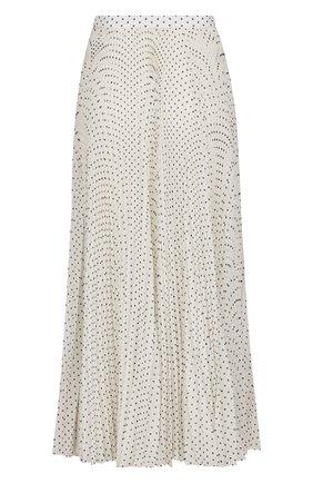 Женская шелковая юбка DIOR белого цвета, арт. 041J21A6645X0874 | Фото 2