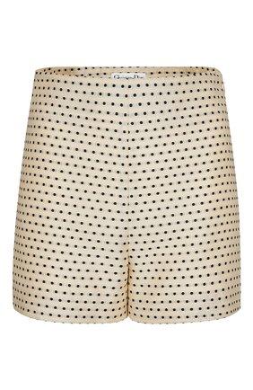 Женские шорты из шелка и хлопка DIOR светло-бежевого цвета, арт. 041P48A7631X1852 | Фото 1