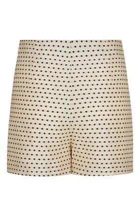 Женские шорты из шелка и хлопка DIOR светло-бежевого цвета, арт. 041P48A7631X1852 | Фото 2