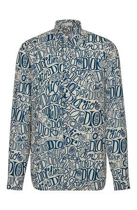 Мужская рубашка из вискозы DIOR голубого цвета, арт. 013C501A4935C085 | Фото 1