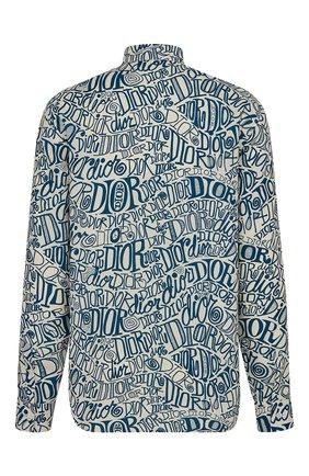 Мужская рубашка из вискозы DIOR голубого цвета, арт. 013C501A4935C085 | Фото 2
