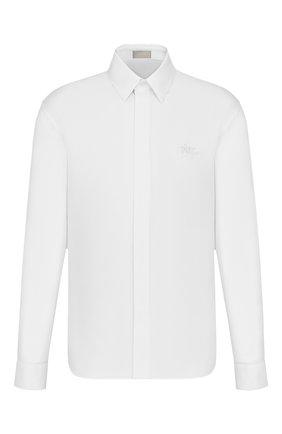 Мужская хлопковая сорочка DIOR белого цвета, арт. 013C501N4910C000 | Фото 1