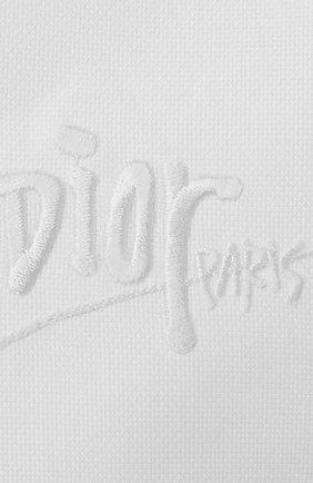 Мужская хлопковая сорочка DIOR белого цвета, арт. 013C501N4910C000 | Фото 2