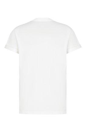 Мужская хлопковая футболка DIOR белого цвета, арт. 033J644A0554C085 | Фото 2