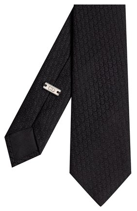 Мужской шелковый галстук DIOR черного цвета, арт. 03C1046A0330C900 | Фото 2