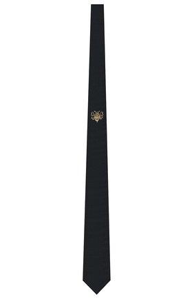 Мужской галстук из шелка и вискозы DIOR черного цвета, арт. 03C1047A0377C981 | Фото 1