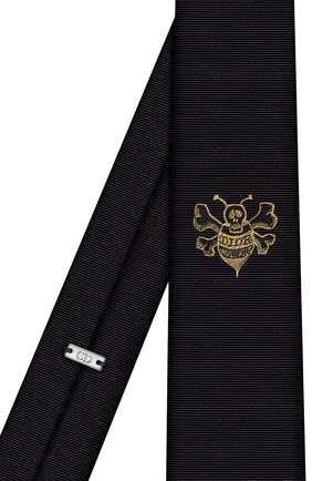 Мужской галстук из шелка и вискозы DIOR черного цвета, арт. 03C1047A0377C981 | Фото 2