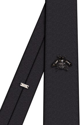 Мужской шелковый галстук DIOR черного цвета, арт. 03C1047C0010C989 | Фото 2