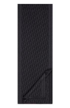 Мужской кашемировый шарф DIOR черного цвета, арт. 03E0006A0335C988 | Фото 1