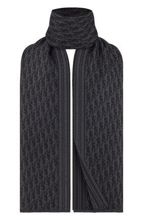 Мужской кашемировый шарф DIOR черного цвета, арт. 03E0006A0335C988 | Фото 2