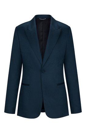 Мужской пиджак из шерсти и шелка DIOR синего цвета, арт. 933C215B924BC585 | Фото 1