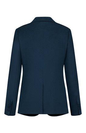 Мужской пиджак из шерсти и шелка DIOR синего цвета, арт. 933C215B924BC585 | Фото 2