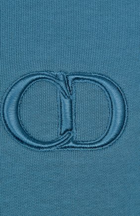 Мужской хлопковый свитшот DIOR синего цвета, арт. 943J612A0531C524 | Фото 2