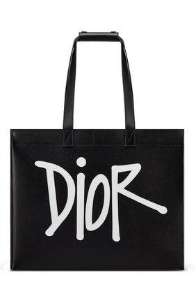Мужская кожаная сумка-тоут d-dior DIOR черного цвета, арт. 1DOSH153YZIH10E | Фото 1