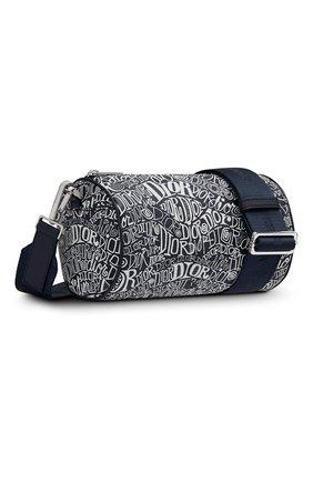 Мужская кожаная сумка roller DIOR синего цвета, арт. 1ROPO061ZADH04E   Фото 2