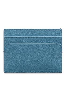 Мужской кожаный футляр для кредитных карт DIOR голубого цвета, арт. 2DSCH100YVIH24B | Фото 2