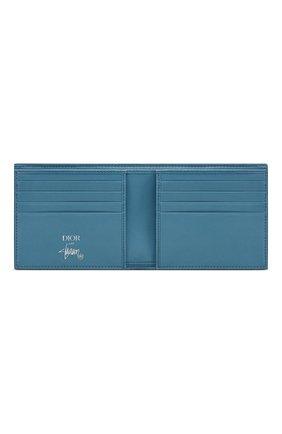 Мужской кожаное портмоне DIOR голубого цвета, арт. 2PUBH027YZSH00E | Фото 2