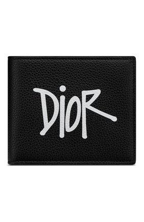 Мужской кожаное портмоне DIOR черного цвета, арт. 2PUBH027YZSH10E | Фото 1