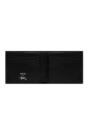 Мужской кожаное портмоне DIOR черного цвета, арт. 2PUBH027YZSH10E | Фото 2