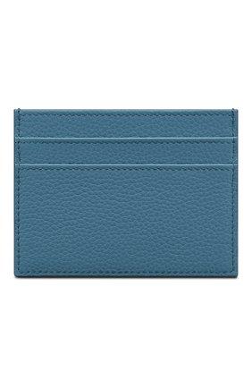 Мужской кожаный футляр для кредитных карт DIOR голубого цвета, арт. 2PUCH001YZSH00E | Фото 2