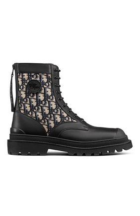 Мужские комбинированные ботинки explorer DIOR черного цвета, арт. 3BO231ZBNH961 | Фото 1