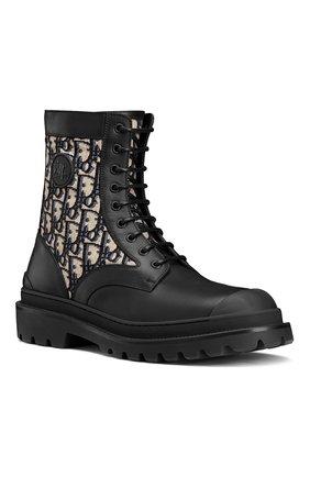 Мужские комбинированные ботинки explorer DIOR черного цвета, арт. 3BO231ZBNH961 | Фото 2