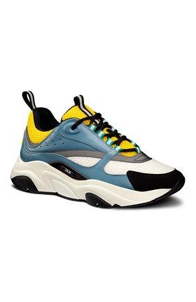 Мужские комбинированные кроссовки b22 DIOR разноцветного цвета, арт. 3SN231ZCQH561 | Фото 2