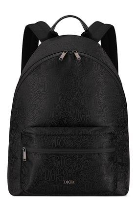 Мужской текстильный рюкзак rider DIOR черного цвета, арт. 1PEBA064YZTH00N   Фото 1