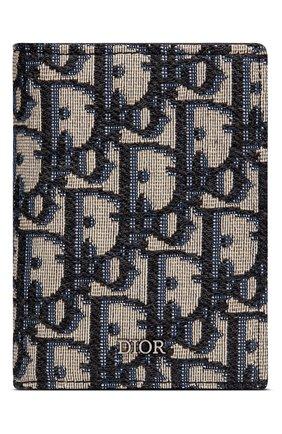 Мужской текстильный футляр для кредитных карт dior oblique DIOR бежевого цвета, арт. 2OBCH130YSEH05E | Фото 1