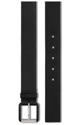 Мужской кожаный ремень DIOR черного цвета, арт. 4332PVYMJH00N | Фото 2