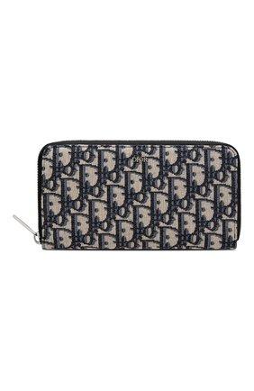 Мужской текстильное портмоне dior oblique DIOR бежевого цвета, арт. 2OBBC011YSEH05E | Фото 1