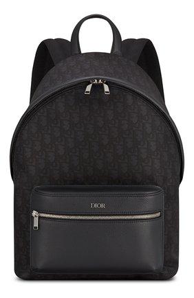 Мужской комбинированный рюкзак rider DIOR черного цвета, арт. 1PEBA088YPNH10E | Фото 1