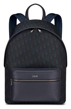 Мужской комбинированный рюкзак rider DIOR темно-синего цвета, арт. 1PEBA088YPNH36E | Фото 1