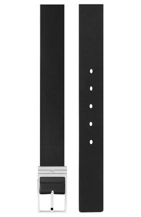 Мужской кожаный ремень DIOR черного цвета, арт. 4307PLYGLH03E | Фото 2