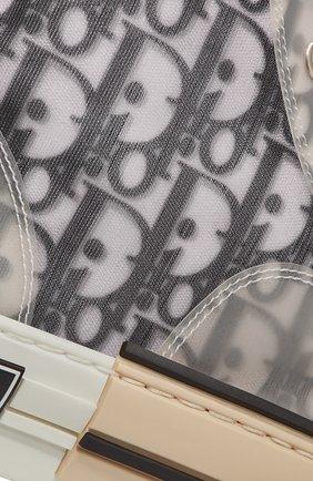 Мужские текстильные кеды b23 DIOR черно-белого цвета, арт. 3SH118YJPH069 | Фото 5