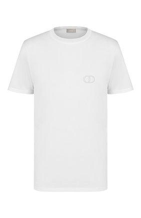Мужская хлопковая футболка DIOR белого цвета, арт. 013J600A0589C080 | Фото 1