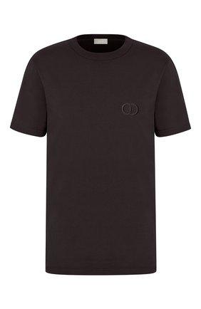 Мужская хлопковая футболка DIOR черного цвета, арт. 013J600A0589C989 | Фото 1