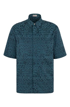 Мужская рубашка DIOR синего цвета, арт. 033C514A4925C585 | Фото 1