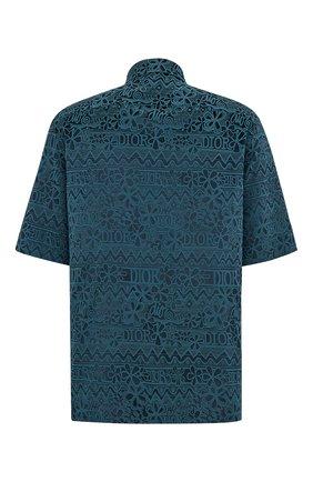 Мужская рубашка DIOR синего цвета, арт. 033C514A4925C585 | Фото 2