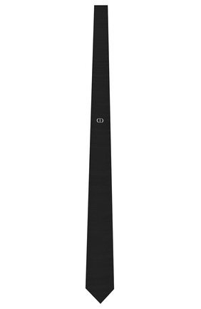 Мужской шелковый галстук DIOR черного цвета, арт. 03C1047A0324C988 | Фото 1