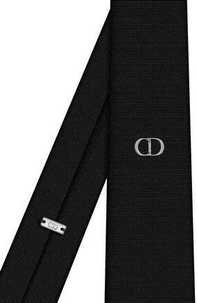 Мужской шелковый галстук DIOR черного цвета, арт. 03C1047A0324C988 | Фото 2