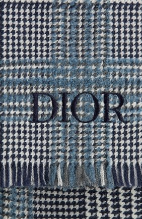 Мужской шарф из шерсти и кашемира DIOR синего цвета, арт. 03E0010A0347C580 | Фото 2