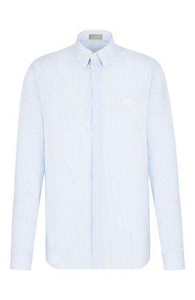 Мужская хлопковая сорочка DIOR голубого цвета, арт. 013C501N4954C080 | Фото 1
